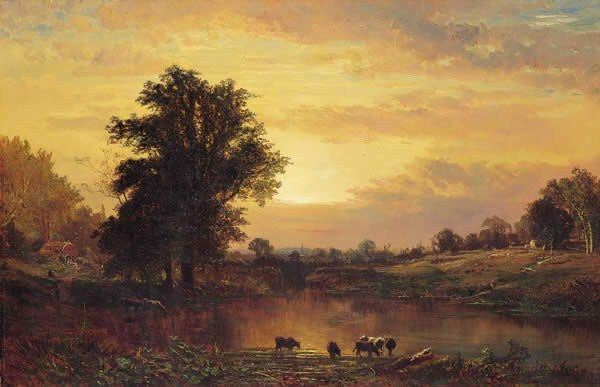 Alfred Thompson Bricher Sunset in the Catskills