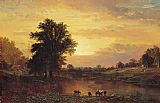 Alfred Thompson Bricher Sunset in the Catskills painting