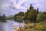 Alfred de Breanski A Reach at the Thames Above Goring painting