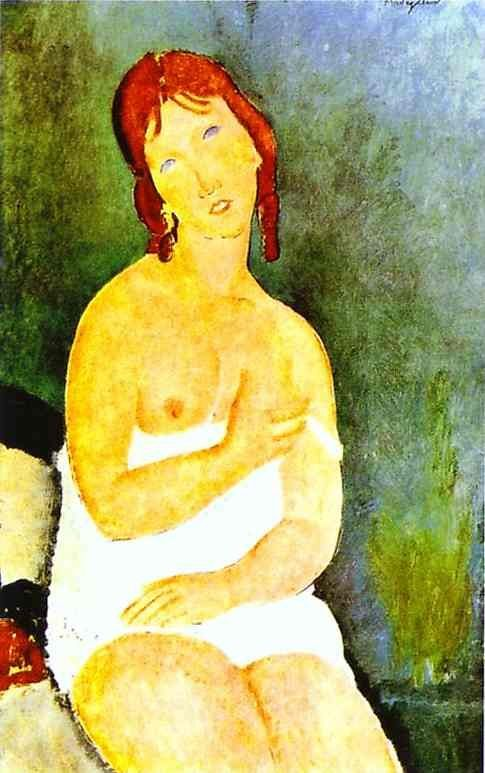 Amedeo Modigliani Red-Haired Young Woman in Chemise