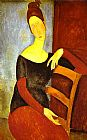 Amedeo Modigliani Portrait of Jeanne Hebuterne 1 painting