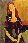 Amedeo Modigliani Portrait of Jeanne Hebuterne painting