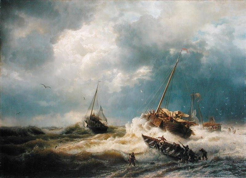 Andreas Achenbach Ships in a Storm on the Dutch Coast 1854