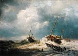 the coming storm Canvas Prints - Ships in a Storm on the Dutch Coast 1854