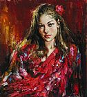 Andrew Atroshenko Blush Rose painting