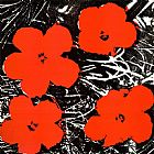 Andy Warhol Flowers Red 1964 painting