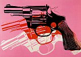 Pop Art paintings - Gun 1981-82 by Andy Warhol