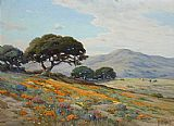 Poppies paintings - California Lupines and Poppies by Angel Espoy