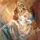 Anna Razumovskaya Romance with a Violin painting