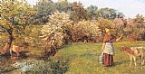 Arthur Hughes Poll the Milkmaid painting