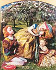 Arthur Hughes The King's Orchard painting