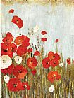 Asia Jensen Poppies in the Wind painting