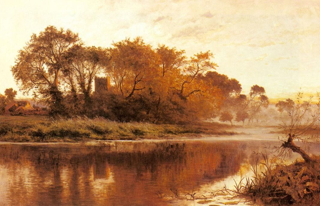 Benjamin Williams Leader The Last Gleam Wargrave on Thames