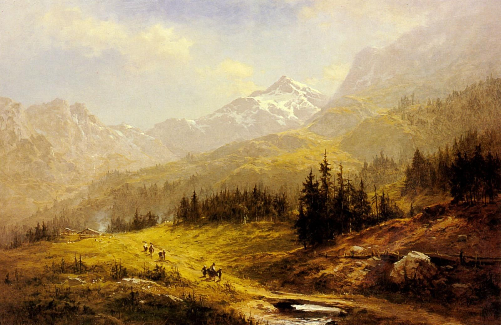 Benjamin Williams Leader The Wengen Alps Morning In Switzerland