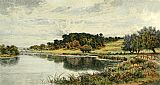 Benjamin Williams Leader Wooded Banks of the Thames painting