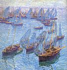 Bernhard Gutmann Breton Fishing Boats painting