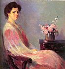 Bernhard Gutmann Lady in Pink painting