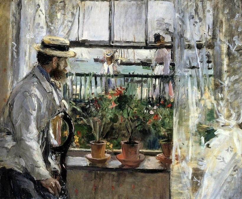 Berthe Morisot Eugene Manet on the Isle of Wight