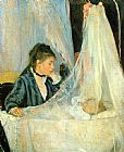 Children paintings - The Cradle by Berthe Morisot