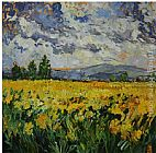 Bobbie Burgers Yellow Field painting