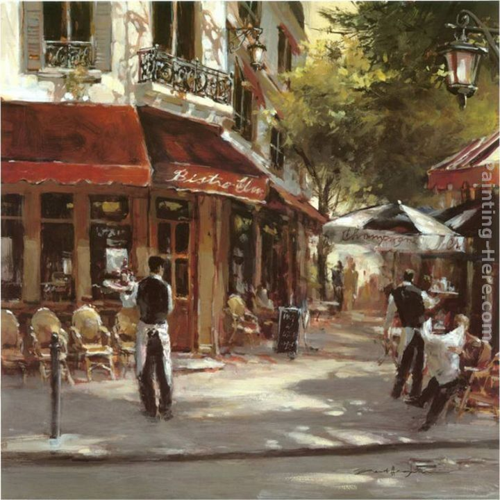 Brent heighton paintings brent heighton bistro waiters painting