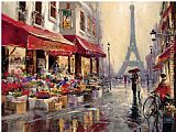 Street paintings - April in Paris by Brent Heighton