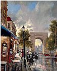 Brent Heighton Arc De Triomphe Avenue painting