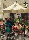 Brent Heighton Flower Market Street painting
