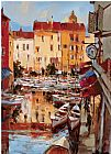 Brent Heighton Mediterranean Seaside Holiday 2 painting
