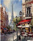 Brent Heighton Tour De Eiffel View painting