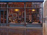 Brent Lynch Fifth Avenue Cafe II painting