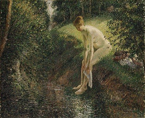 Camille Pissarro Bather in the Woods