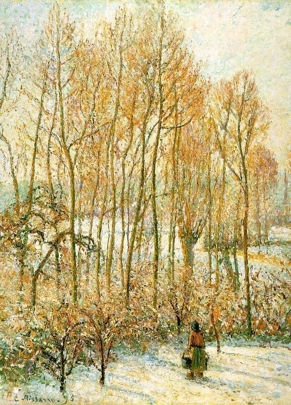 Camille Pissarro Morning Sunlight on the Snow