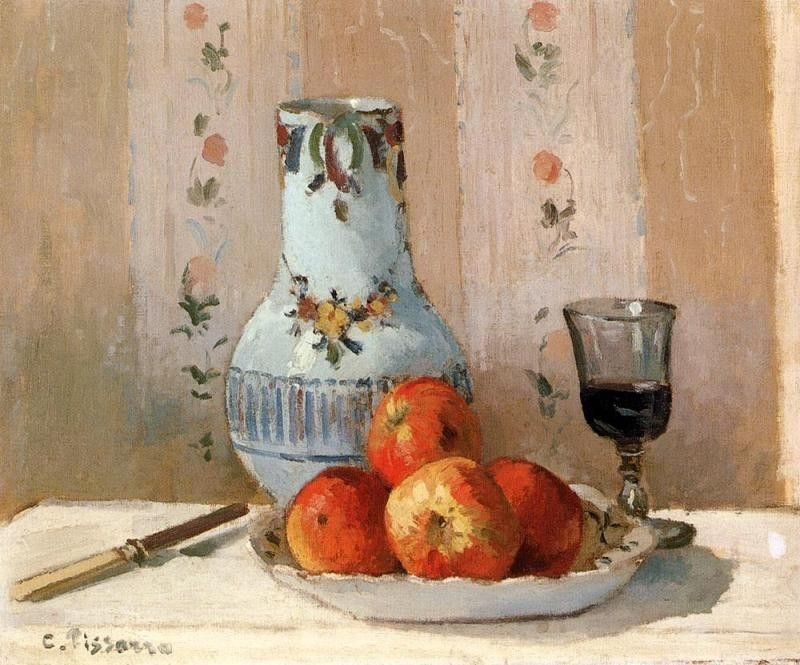 Camille Pissarro Still Life with Apples and Pitcher