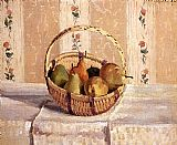 Camille Pissarro Apples and Pears in a Round Basket painting