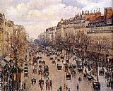 Street paintings - Boulevard Montmarte by Camille Pissarro