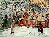 Camille Pissarro Chataigniers Louveciennes painting