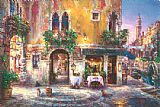 Cao Yong Evening in Venice painting