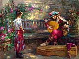 Cao Yong GIRL WITH MUSICIAN painting
