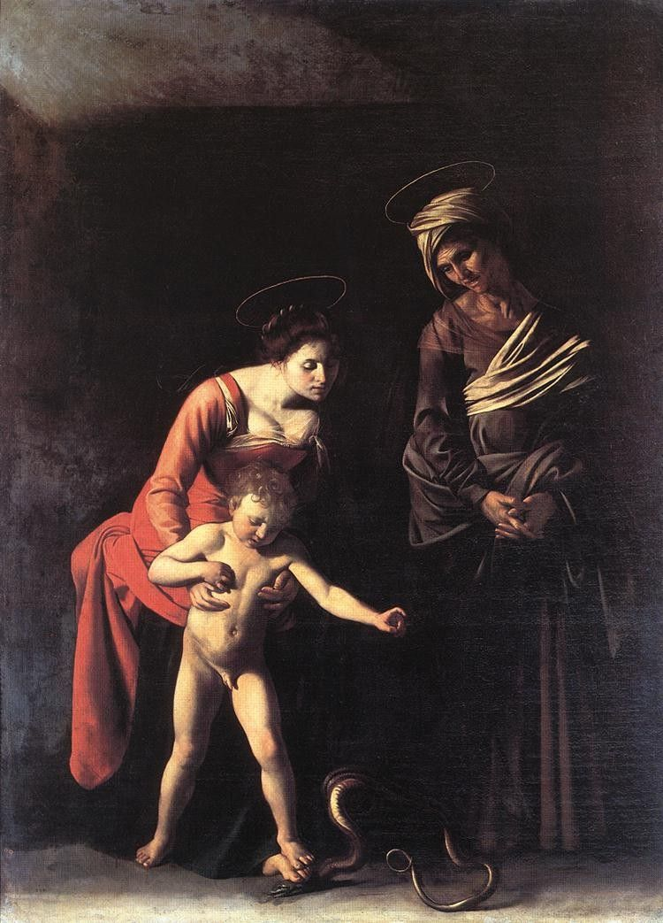 Caravaggio Madonna with the Serpent