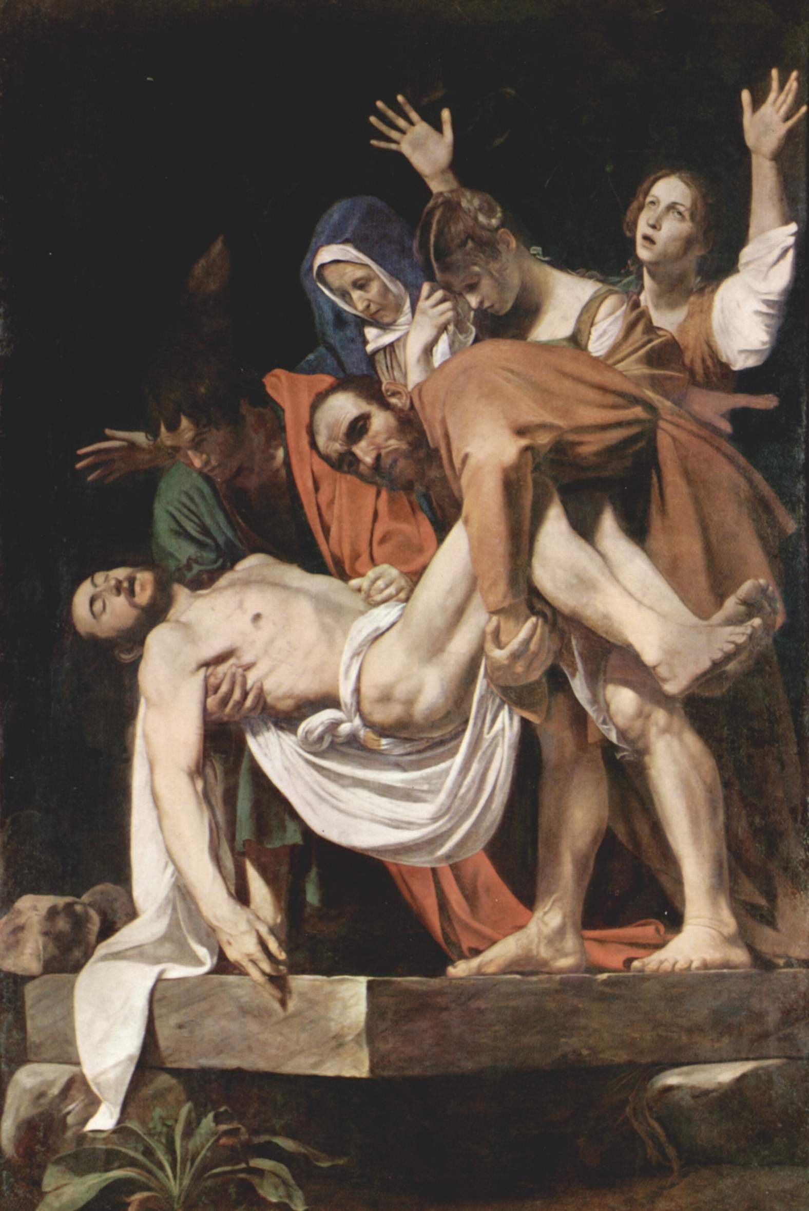 Caravaggio The Entombment of Christ