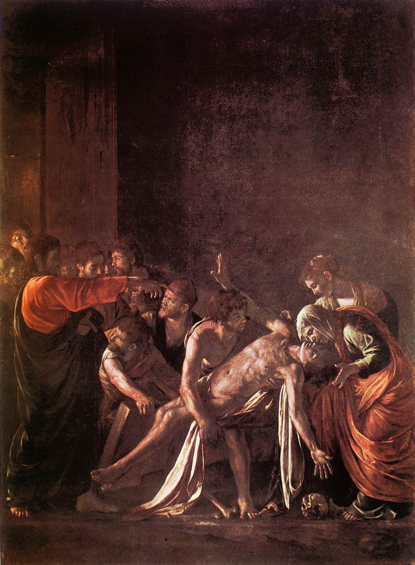 Caravaggio The Raising of Lazarus
