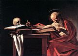 Caravaggio St. Jerome painting