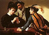 Caravaggio The Cardsharps painting