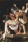 Caravaggio The Entombment of Christ painting