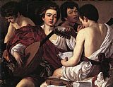 Caravaggio The Musicians painting
