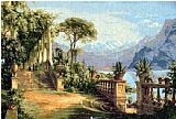 lake como Paintings - Lodge on Lake Como 3