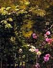 Carl Fredrik Aagard The Rose Garden painting