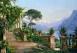 lake como Paintings - lodge on lake como 2