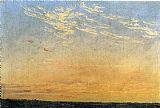 Caspar David Friedrich Evening 1824 painting